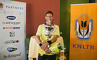 August 24, 2014, Netherlands, Amstelveen, De Kegel, National Veterans Championships, Final men 40+ , Winner Jeroen Bok <br /> Photo: Tennisimages/Henk Koster