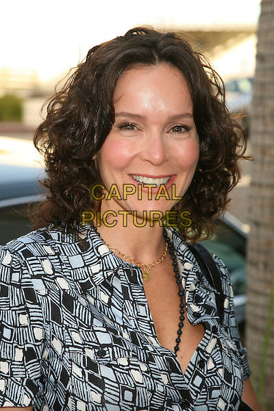 "JENNIFER GREY.""New Adventures of Old Christine"" Presented by the Museum of Television & Radio, Beverly Hills, California, USA, 16 April 2007..portrait headshot gray black white and grey dress patterned printed.CAP/ADM/BP.©Byron Purvis/AdMedia/Capital Pictures."