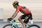 Race leader Primoz Roglic (SLO) Team Jumbo-Visma during Stage 2 of the 2019 UAE Tour, running 184km form Yas Island Yas Mall to Abu Dhabi Breakwater Big Flag, Abu Dhabi, United Arab Emirates. 25th February 2019.<br /> Picture: LaPresse/Fabio Ferrari | Cyclefile<br /> <br /> <br /> All photos usage must carry mandatory copyright credit (© Cyclefile | LaPresse/Fabio Ferrari)