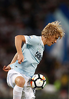 Calcio, Football - Juventus vs Lazio Italian Super Cup Final  <br /> Lazio's Dusan Basta in action during the Italian Super Cup Final football match between Juventus and Lazio at Rome's Olympic stadium, on August 13, 2017.<br /> UPDATE IMAGES PRESS/Isabella Bonotto