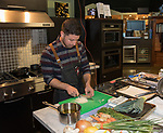 Chef Josh Deri from Blend Catering during the Reno Bites Chef Showdown at Czyz's Appliance's gourmet kitchens in Reno, October 14, 2017.