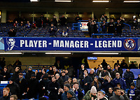 25th February 2020; Stamford Bridge, London, England; UEFA Champions League Football, Chelsea versus Bayern Munich; Chelsea banner for Chelsea Manager Frank Lampard reads 'Player - Manager - Legend'