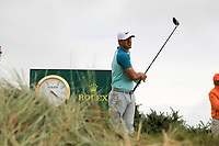 Brooks Koepka (USA) on the 11th tee during final round of The Open Championship 146th Royal Birkdale, Southport, England. 23/07/2017.<br /> Picture Fran Caffrey / Golffile.ie<br /> <br /> All photo usage must carry mandatory copyright credit (&copy; Golffile | Fran Caffrey)