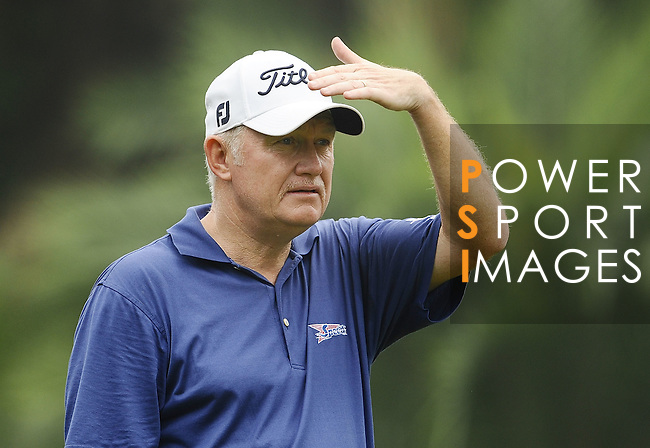TAIPEI, TAIWAN - NOVEMBER 18:  Roger Chapman of England tees off on the 14th hole during day one of the Fubon Senior Open at Miramar Golf & Country Club on November 18, 2011 in Taipei, Taiwan.  Photo by Victor Fraile / The Power of Sport Images