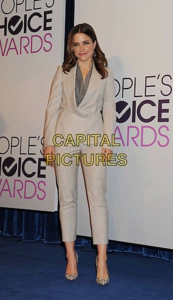 Sophia Bush.The People's Choice Awards 2013 Nomination Announcements at The Paley Center for Media in Beverly Hills, California, USA. .November 15th, 2012.full length grey gray trousers jacket suit beige snakeskin shoes blazer .CAP/ROT/TM.©Tony Michaels/Roth Stock/Capital Pictures