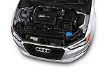 High angle engine detail of a 2015 Audi A3 2.0 T DSG 4 Door Sedan