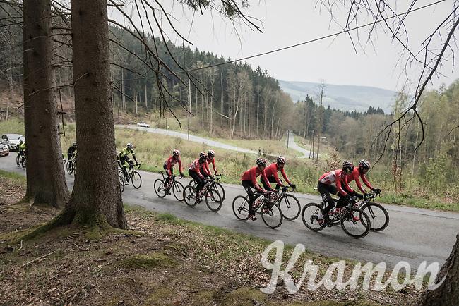 Team Lotto-Soudal at the Liège-Bastogne-Liège 2017 recon