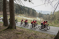 Team Lotto-Soudal at the Liège-Bastogne-Liège 2017 recon