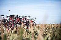 Team Katusha Alpecin bike rack<br /> <br /> 104th Kampioenschap van Vlaanderen 2019<br /> One Day Race: Koolskamp > Koolskamp 186km (UCI 1.1)<br /> ©kramon
