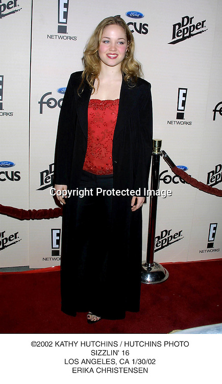 ©2002 KATHY HUTCHINS / HUTCHINS PHOTO.SIZZLIN' 16.LOS ANGELES, CA 1/30/02.ERIKA CHRISTENSEN