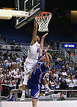 Bishop Gorman's Chuck O'Bannon shoots over Reno defender David Kyle during the NIAA Division I state basketball tournament in Reno, Nev. on Thursday, Feb. 25, 2016. Gorman won 70-39. Cathleen Allison/Las Vegas Review-Journal