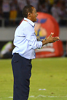BARRANQUIILLA -COLOMBIA-18-05-2014. David Pinillos director tecnico  del Atletico Junior en accion   contra el Atletico Nacional partido valido por la final de la Liga Postob—n 2014-1 jugado en el estadio Metropolitano Roberto Melendez de la ciudad de Barranquilla./ Atletico Junior coach David Pinillos  in action against Atletico Nacional valid match for the end of the 2014-1 League Postob—n played in Metropolitan Stadium Roberto Melendez in Barranquilla.  Photo: VizzorImage / Alfonso Cervantes / STR.