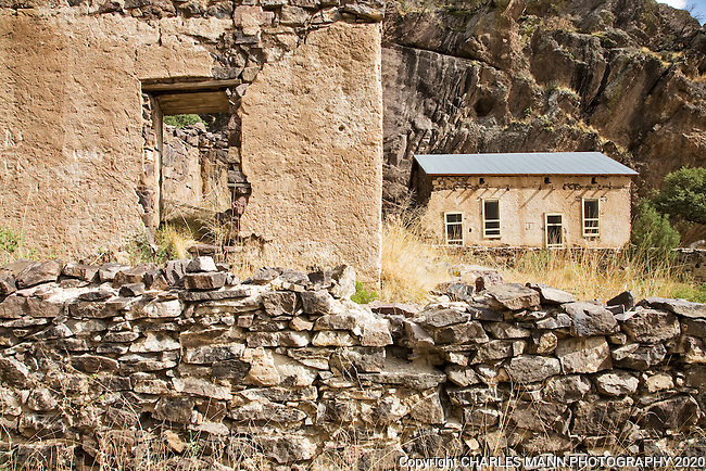 The ruins of Van Patten's Mining Camp is one part of the historic Dripping Springs Natural Area near Las Cruces, New Mexico
