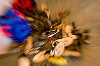 Belo Horizonte_MG, Brasil...1a Copa Kaiser de Futebol Amador de Belo Horizonte. Partida entre Inconfidencia  x  Serro Novo Oriente. Na foto detalhe das chuterias...1st Kaiser Cup of Amateur Football in Belo Horizonte. The match was between Inconfidencia  x  Serro Novo Oriente. In this photo some soccer shoes.. .Foto: NIDIN SANCHES / NITRO