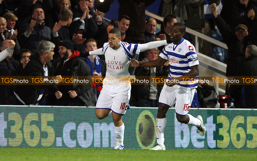 Adel Taarabt celebrates after scoring the 1st goal for QPR - Queens Park Rangers vs West Ham United - Barclays Premier League at Loftus Road, London - 01/10/12 - MANDATORY CREDIT: Rob Newell/TGSPHOTO - Self billing applies where appropriate - 0845 094 6026 - contact@tgsphoto.co.uk - NO UNPAID USE.