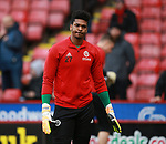 Jamal Blackman of Sheffield Utd warm up during the Championship match at Bramall Lane Stadium, Sheffield. Picture date 30th December 2017. Picture credit should read: Simon Bellis/Sportimage