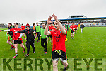 Darren O'Sullivan and the Glenbeigh team salute their supporters after the AIB GAA Football Junior All Ireland Club Championship Semi Final in Ennis on Sunday.