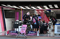 31st October 2019; Circuit of the Americas, Austin, Texas, United States of America; F1 United States Grand Prix, team arrival day; SportPesa Racing Point mechanics building and setting up the car - Editorial Use
