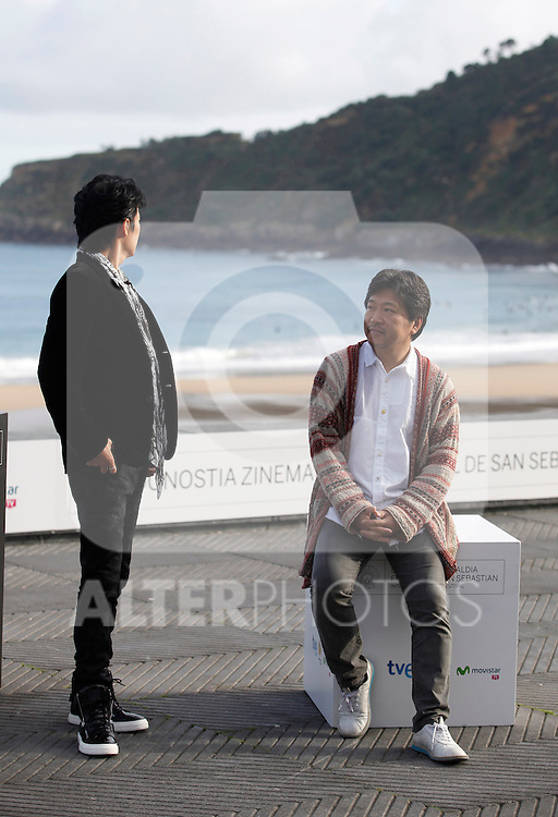 Director Hirokazu Kore-eda (L) and actor Masaharu Fukuyama (R) during the 61 San Sebastian Film Festival, in San Sebastian, Spain. September 20, 2013. (ALTERPHOTOS/Victor Blanco)