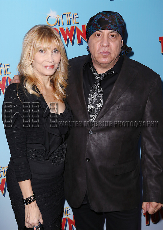 Maureen Van Zandt and Steven Van Zandt attends the Broadway Opening Night Performance of 'On The Town'  at the Lyric Theatre on October 16, 2014 in New York City.