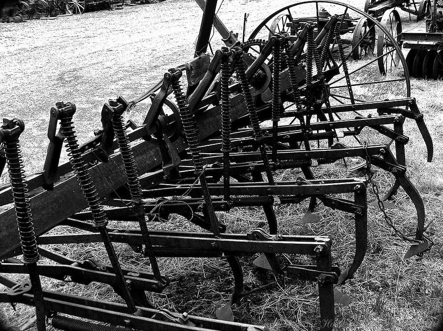 Old tractor attachment.  Molson Museum, Molson, Washington.  2007.
