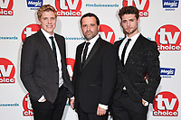 LONDON, UK. September 10, 2018: Ryan Hawley, Andrew Scarborough &amp; Ned Porteous at the TV Choice Awards 2018 at the Dorchester Hotel, London.<br /> Picture: Steve Vas/Featureflash