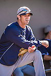 16 March 2014: Detroit Tigers Manager Brad Ausmus watches batting practice prior to a Spring Training Game against the Washington Nationals at Space Coast Stadium in Viera, Florida. The Tigers edged out the Nationals 2-1 in Grapefruit League play. Mandatory Credit: Ed Wolfstein Photo *** RAW (NEF) Image File Available ***