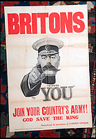 BNPS.co.uk (01202 558833)<br /> Pic: Onslows/BNPS<br /> <br /> Cash in the Attic! - Iconic Kitchener poster sells for £17,000.<br /> <br /> A super-rare Lord Kitchener recruitment poster  was discovered amongst a time capsule box of ephemera from the Great War uncovered in a Cumbrian attic.<br /> <br /> Bizarrely, despite its iconic status, only five other original copies of the poster are known to still survive making this find incredibly valuable.<br /> <br /> It was found folded up in a box by an elderly gentleman who was going through his late wife's possessions.<br /> <br /> Patrick Bogue of poster specialists Onslows Auctions said 'It's was a real Howard Carter moment, it's incredible how something so familiar is actually so rare'.