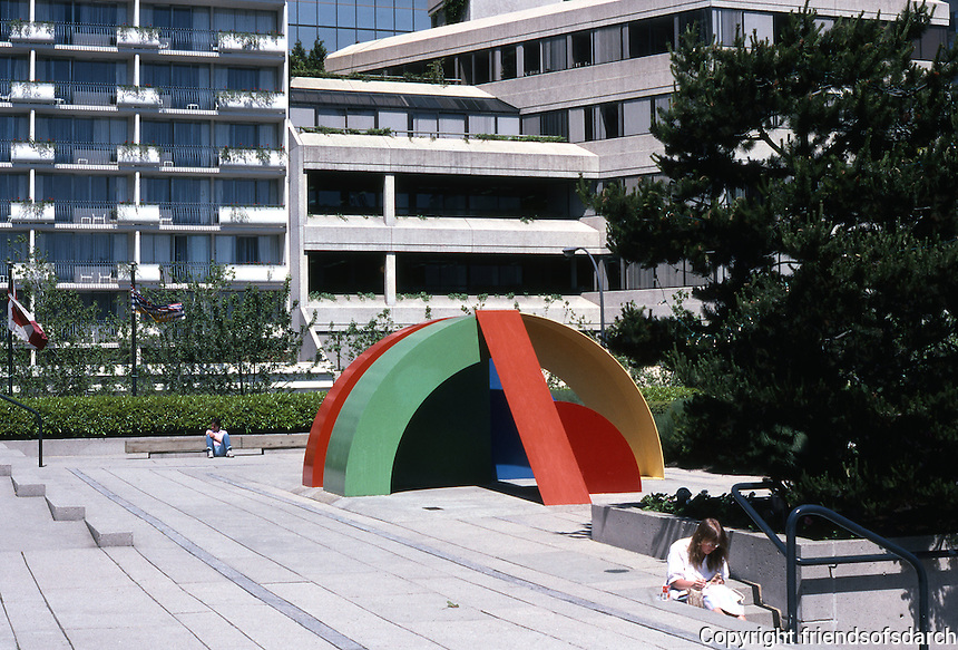 "Vancouver: Law Courts--Robson Square. Sculpture: ""Primary No. 9"", 1981 by Mike Banwell.  Photo '86."