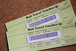 Two rail travel vouchers, UK