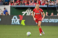 Portland, Oregon - Sunday April 17, 2016: Portland Thorns FC midfielder Allie Long (10). The Portland Thorns play the Orlando Pride during a regular season NWSL match at Providence Park.