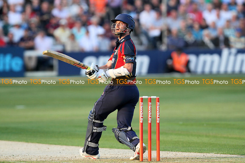 James Foster in batting action for Essex - Essex Eagles vs Kent Spitfires - Friends Life T20 Cricket at the Ford County Ground, Chelmsford, Essex - 20/06/12 - MANDATORY CREDIT: Gavin Ellis/TGSPHOTO - Self billing applies where appropriate - 0845 094 6026 - contact@tgsphoto.co.uk - NO UNPAID USE.