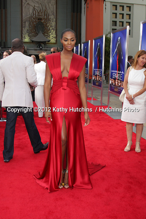 """Los Angeles - AUG 16:  Tika Sumpter arrives at the """"Sparkle""""  Premiere at Graumans Chinese Theater on August 16, 2012 in Los Angeles, CA"""
