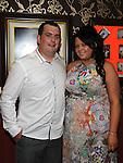 Julieanne McKeown celebrating her 21st birthday in Shearmans bar Dunleer with boyfriend James Twaddle. Photo: Colin Bell/pressphotos.ie