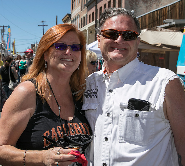 Robin Pearce and Terry Moss at the 34th Annual Chili on the Comstock Cook Off in Virginia City on Sunday, May 21, 2017.