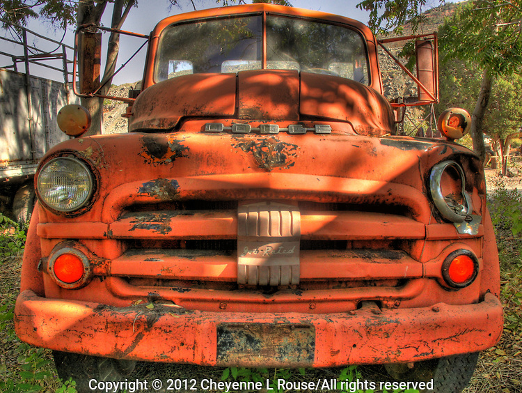 "Old Red Dodge Truck - Gold King Mine, Jerome, Arizona - looks like ""Mader"" in the movie, CARS."