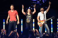 WEST PALM BEACH - MAY 12: (L-R) Charles Kelley, Hillary Scott and Dave Haywood of Lady Antebellum  perform at the Cruzan Amphitheatre on May 12, 2012 in West Palm Beach, Florida. © mpi04/MediaPunch Inc