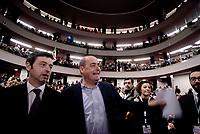 Roma, 12 Marzo 2017<br /> Andrea Orlando e Nicola Zingaretti.<br /> Presentazione al teatro Eliseo della candidatura a segretario del Partito Democratico di Andrea Orlando Ministro della Giustizia.