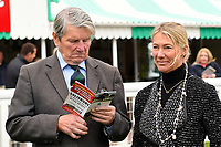 Former trainer Ian Balding studies form during Bathwick Tyres Reduced Admission Race Day at Salisbury Racecourse on 9th October 2017