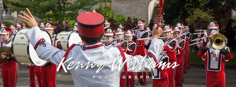 Ballard High School Marching Band, 17th of May Parade 2016, Seattle, WA, USA.