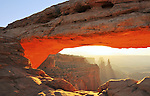 Sunrise at Mesa Arch in Canyonlands National Park near Moab, Utah.