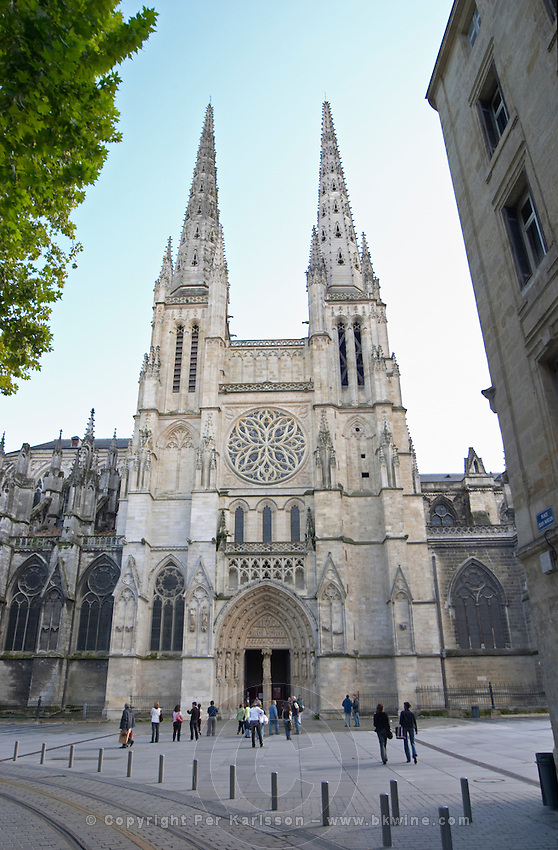 Cathedral Saint Andre. Place Pey Berland. Bordeaux city, Aquitaine, Gironde, France