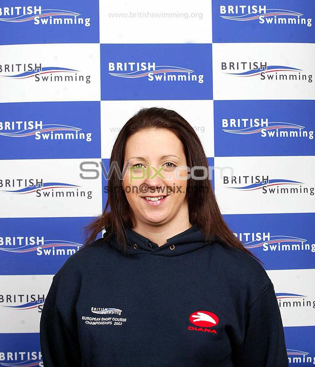 Pix: Tom Honan/SWpix.com. Swimming. British Swimming European Short Course Team. Dublin. Head shots, Traning Camp Limerick, Ireland...COPYRIGHT PICTURE>>SIMON WILKINSON>>0870 0920092>>..British Swimming's Karen Legg