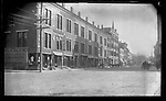 Frederick Stone negative. East Main St. from Cones Corner - 1889.