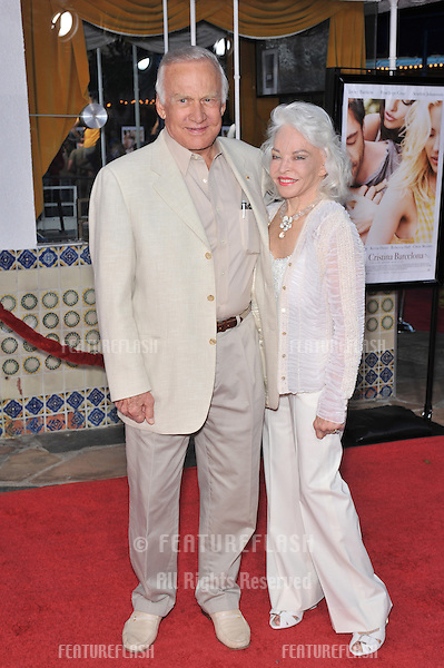 """Edwin Buzz Aldrin & wife Lois at the Los Angeles premiere of """"Vicky Cristina Barcelona"""" at the Mann Village Theatre, Westwood..August 4, 2008  Los Angeles, CA.Picture: Paul Smith / Featureflash"""