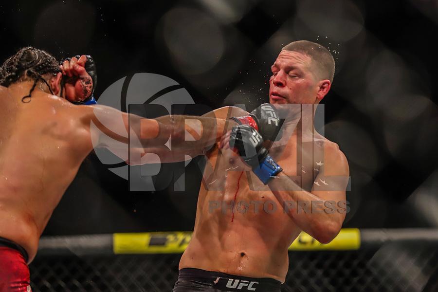 NOVA YORK, EUA, 02.11.2019 - UFC-NOVA YORK - Jorge Masvidal (Vermelho) e Nate Diaz (Azul) durante o UFC 244 no Madison Square Garden na cidade de Nova York neste sábado, 02. (Foto: Vanessa Carvalho/Brazil Photo Press)