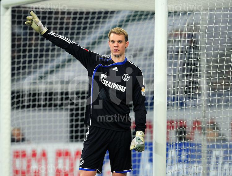 FUSSBALL  1. BUNDESLIGA   SAISON 2009/2010  26. SPIELTAG FC Schalke 04 - VfB Stuttgart                                 12.03.2010 Manuel NEUER (FC Schalke 04)