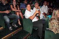 """SANTOS, SP, 28 FEVEREIRO 2013 - CRUZEIRO ZEZE DI CAMARGO E LUCIANO - A dupla sertaneja Zeze Di Camargo e Luciano durante show no Cruzeiro """"É o Amor 2013"""" que saiu de Santos em direção a Cabo Frio na madrugada desta sexta-feira, 01. (FOTO: ORLANDO OLIVEIRA / BRAZIL PHOTO PRESS).."""