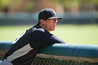Chicago White Sox outfielder Blake Rutherford (23) during an Instructional League game against the Los Angeles Dodgers on September 30, 2017 at Camelback Ranch in Glendale, Arizona. (Zachary Lucy/Four Seam Images)