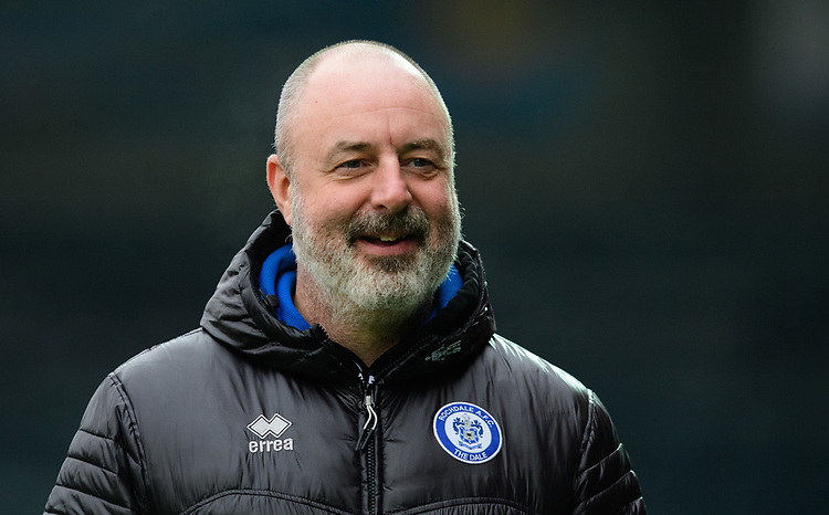 Rochdale manager Keith Hill during the pre-match warm-up<br /> <br /> Photographer Chris Vaughan/CameraSport<br /> <br /> The EFL Sky Bet League One - Rochdale v Blackpool - Wednesday 26th December 2018 - Spotland Stadium - Rochdale<br /> <br /> World Copyright © 2018 CameraSport. All rights reserved. 43 Linden Ave. Countesthorpe. Leicester. England. LE8 5PG - Tel: +44 (0) 116 277 4147 - admin@camerasport.com - www.camerasport.com